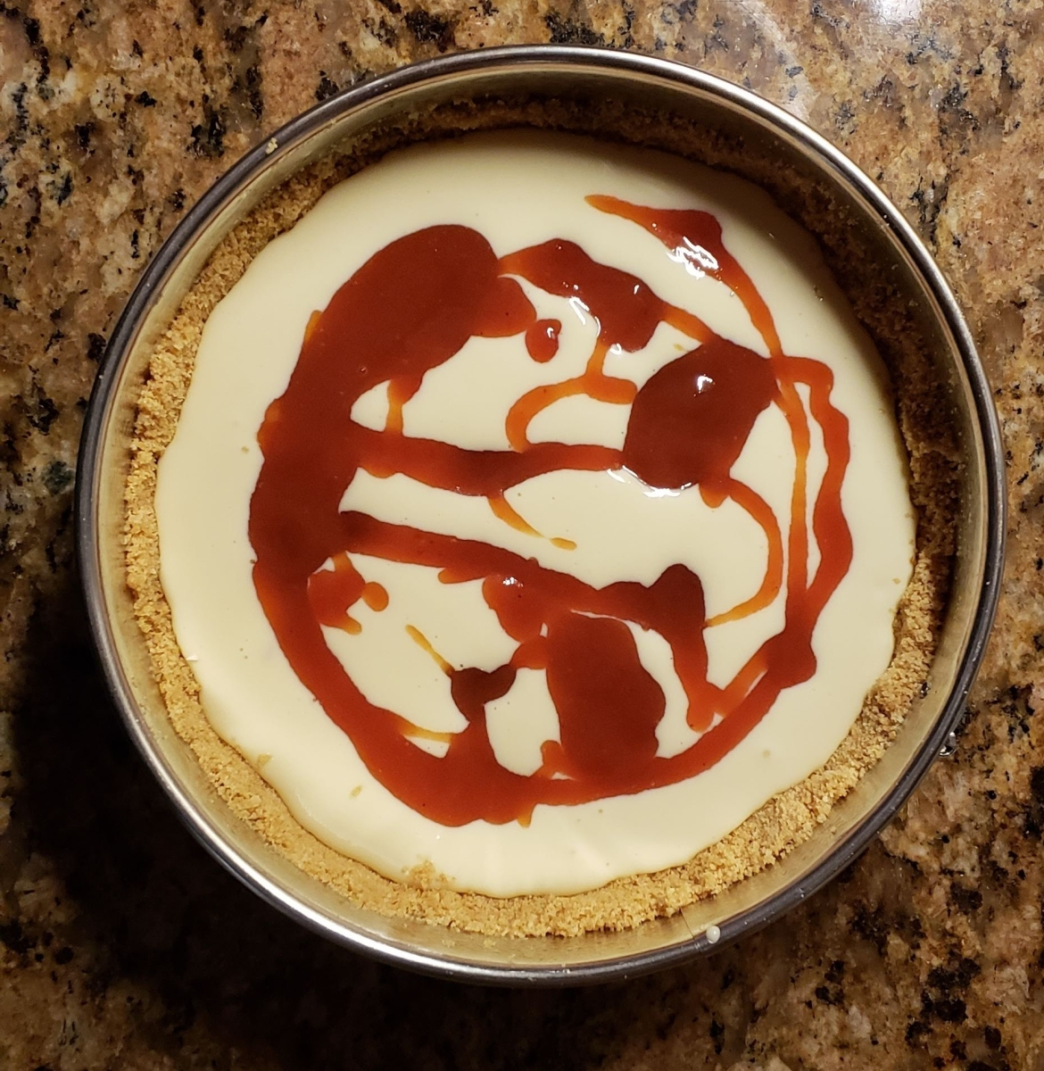guava drizzle cheesecake
